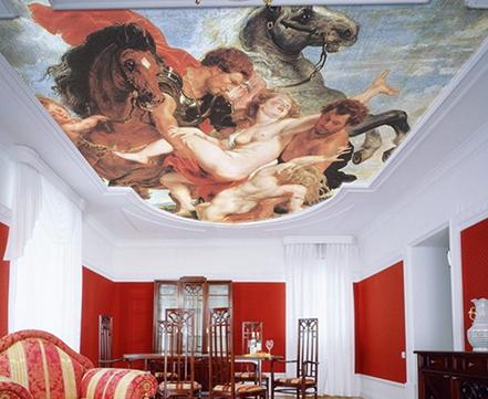 Фотопечать на натяжных потолках фото фрески