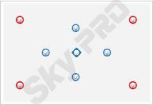 26 - Схема расположения точечных светильников на натяжном потолке