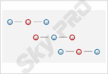 35 - Схема расположения точечных светильников на натяжном потолке