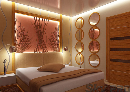 Дизайн потолка с подсветкой