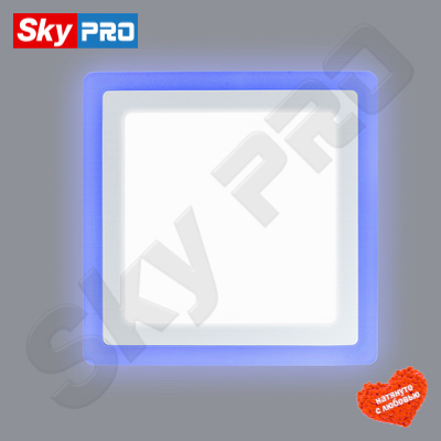 Светодиодный светильник LPL 6+3 w синей подсветкой